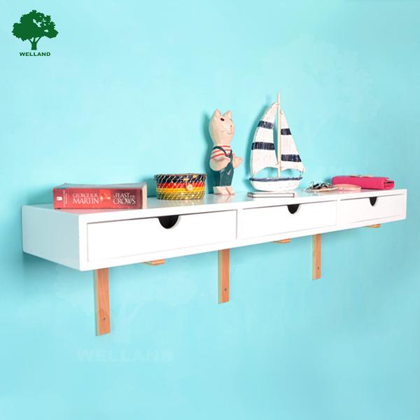 Tag re murale en bois avec tiroir autres meubles en bois - Etagere murale avec tiroir ...