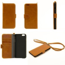 2014 new arrival fashion 5.5 inch genuine leather for i phone case