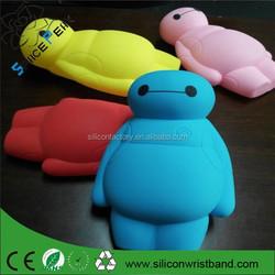 Promotion gift Super Cute Blue 3D Cartoon Baymax Shape pencil case Soft Silicone Rubber Gel Case