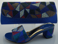SB428 blue EUR size 38/39/40/41/42 message us which size you want italian shoes and bags to match women