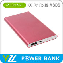 2015 Portable Polychrome Power Bank 4500For SmartPhone, Polychrome Power Bank 4500 mah For SmartPhone
