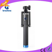 Popular wireless monopod blue tooth selfie stick with foldable phone holder
