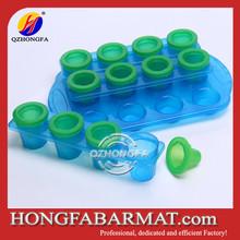 12 bule unbreakable PP ice shot glass wholesale