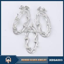 925 sterling silver turkish jewelry huggie earrings