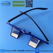 Adjustable and reversible hang neck reading belay glasses