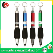 High Quality Ball Pen with Key Ring