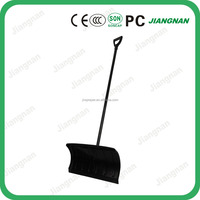 Plastic heated snow shovel