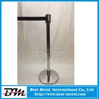 Steel Crowd Control Stanchions Airport Queue Barrier Access Control System