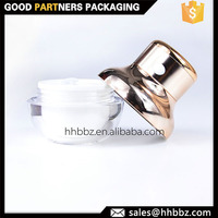 30ml cosmetic thick wall vibrating container with metal coating cap