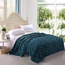 flannel Anti-Pilling cotton branded soft blanket
