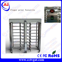 Fingerprint access control pedestrain turnstile barrier/dual directional access control full height turnstile GAT-506
