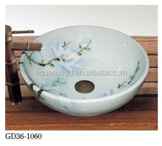 Jingdezhen de bonne qualit peint la main rond circluar for Lavabo ceramique ou porcelaine