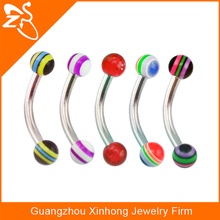 Tragus Balls Stainless Steel Barbell Curved Bars Ball Eyebrow Piercing Ring Fake Eyebrow Piercing