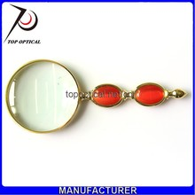 Top optical instrument handheld type jade handle portable gift glass magnifier