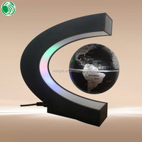 High end gift C shape base 3 inch floating globe fashionable silver plated gift items