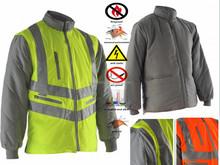 Green Reversible Waterproof 3M Reflective Safety Jacket