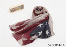 America fashion new style star scarf
