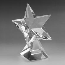 OEM engraved crystal k9 glass fashion star crystal business crystal award plaques