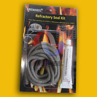 Graphite Coated Fiberglass Gasket Rope Kit, With 17ML Cement
