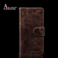 Oil wax genuine leather case for iphone 6