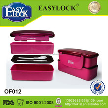 New design small water proof plastic bento box double layer on sale