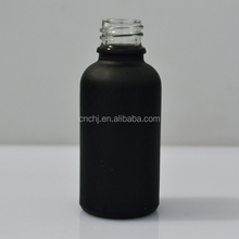hot sale 5ml 10ml 15ml 20ml 25ml 30ml 50ml and 100ml frost black essential oil glass with dropper bottle