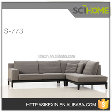 comfortable mixed feather and fabric combination sofa morden fabric furniture
