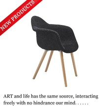 Wooden legs ,fabric wrapped chair dining armchair