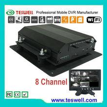 Sistema de monitoreo central para supervisar vídeo en directo y seguimiento de vehículos GPS vista móvil DVR
