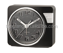3D arabic numbers touch LED light travel alarm clock
