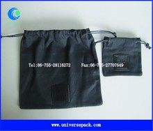 Wholesale black canvas pouches with custom logo