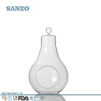 Sanzo Handmade Glassware Manufacturer Elegant Decoratives Clear Hang Glass Vases