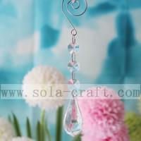 crystal diamond teardrop chandelier beaded plastic prism 18CM