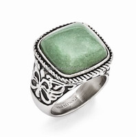 Casting custom made Emerald stainless steel rings jewelry