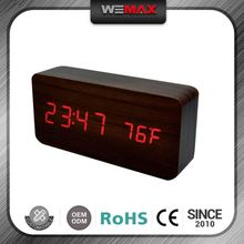 Factory Price Newest Model Various Colors Customize Desk Wood Mantel Clock