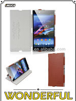 IMUCA Best sell velvety glaze leather leather flip case for Sony Xperia Z Ultra XL39h