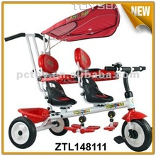 Double seat tricycle new children pedal car