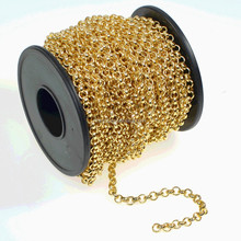 ROLO Chain by the Foot, 11 mm 14k Gold Filled Rolo, bulk unfinished chain