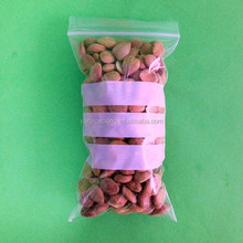 Clear LDPE dampproof zipper bags for dried fruit packaging