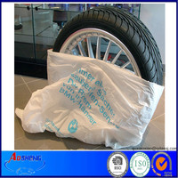 Plastic truck tire bags on one role