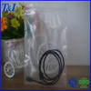 Clear 2 mil reclosable wire-packed zip lock plastic packaging bag