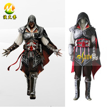 Assassin's Creed III Ezio Auditore da Firenze Black Edition Cosplay costume mens halloween suit custom made wholesale price