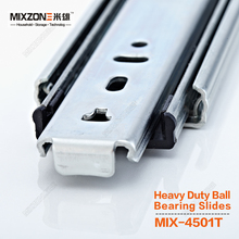 Runner with Three Sections Full Extension Heavy Duty Ball Bearing Soft Close Slides MIXZONE 4501T-16