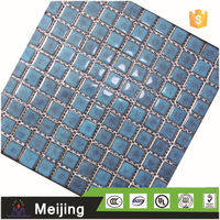 New ice crackle swimming pool tiles polished porcelain tiles red for building materials
