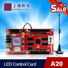 rgb led card supports scrolling message and animation with USB port and LAN port