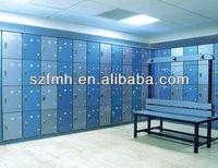 Europe elegant hpl pool bench and locker