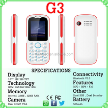 """G3 1.8"""" Bar Phone Multilanguage lot of mobile phone cheap in hong kong low price china OEM acceptable mobile phone 10 color"""