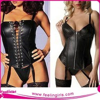 Leather Corset,Catsuit