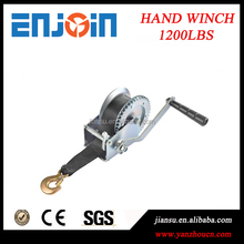 CE SGS approved Manufacturing 1200lbs galvanized manual hand winch with belt