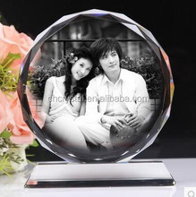 wholesale crystal faceted image,crystal photo frame MH-LP0141
